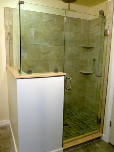 Frameless Glass Shower Door Enclosure Richmond VA Bath remodel courtesy of  BK Martin Const  Richmond Va
