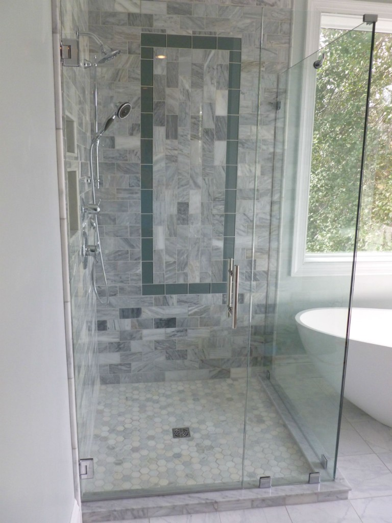 Frameless Corner Shower Woodland Heights Richmond Va