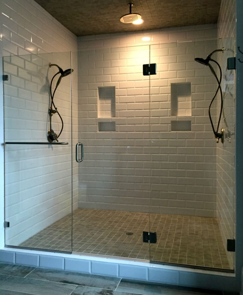 Frameless Shower Door Hallsley Subdivision Biringer Builders
